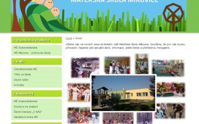 Vytvořeny nové www stránky pro MŠ Míkovice