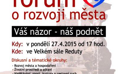 Veřejné fórum o rozvoji města
