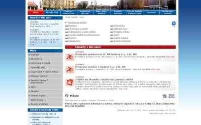 Aktualizace internetových stránek města Uh. Hradiště
