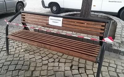 Nátěry mobiliáře na Masarykově náměstí vUherském Hradišti