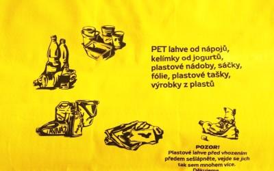Testování pytlového svozu plastů