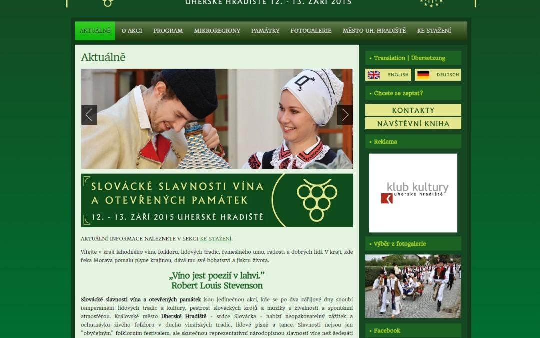 Slovácké Slavnosti vína a otevřených památek, 2015
