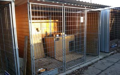 Oprava záchytných kotců – areál firmy Hrates