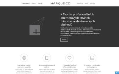 Aktualizace internetových stránek + Marque.cz