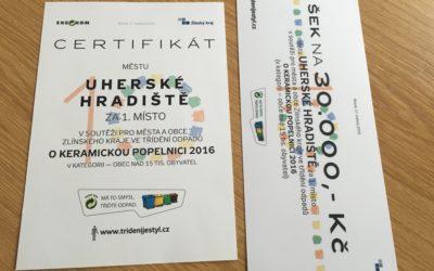 V jubilejním ročníku soutěže ve třídění odpadů Uherské Hradiště zazářilo