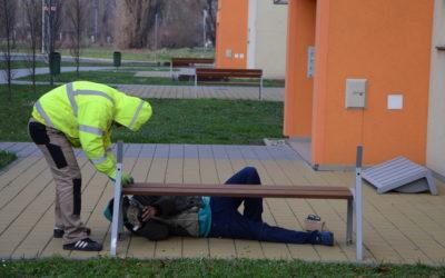 Testování městského mobiliáře přímo vterénu = spolupráce sfirmou mmcité