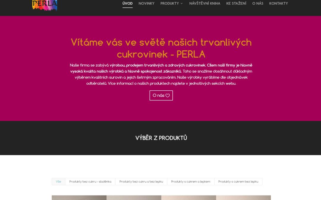 Aktualizace internetových stránek trvanlivecukrovinky.cz a focení produktů