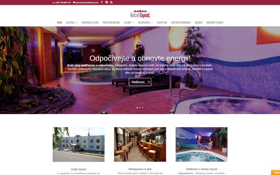 Vytvoření nových internetových stránek pro Wellness hotel Synot