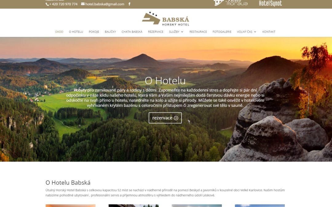 Spuštěn nový web Hotelu Babská