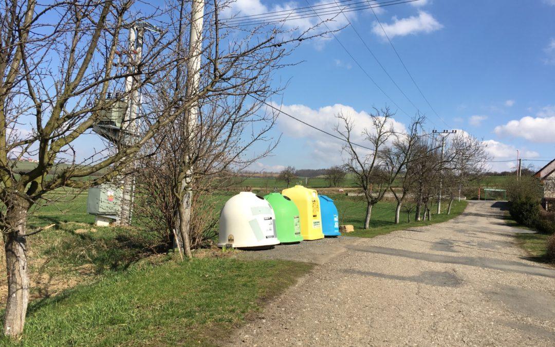 Nové kontejnerové stání vmístní části Vésky (ul. Nová)