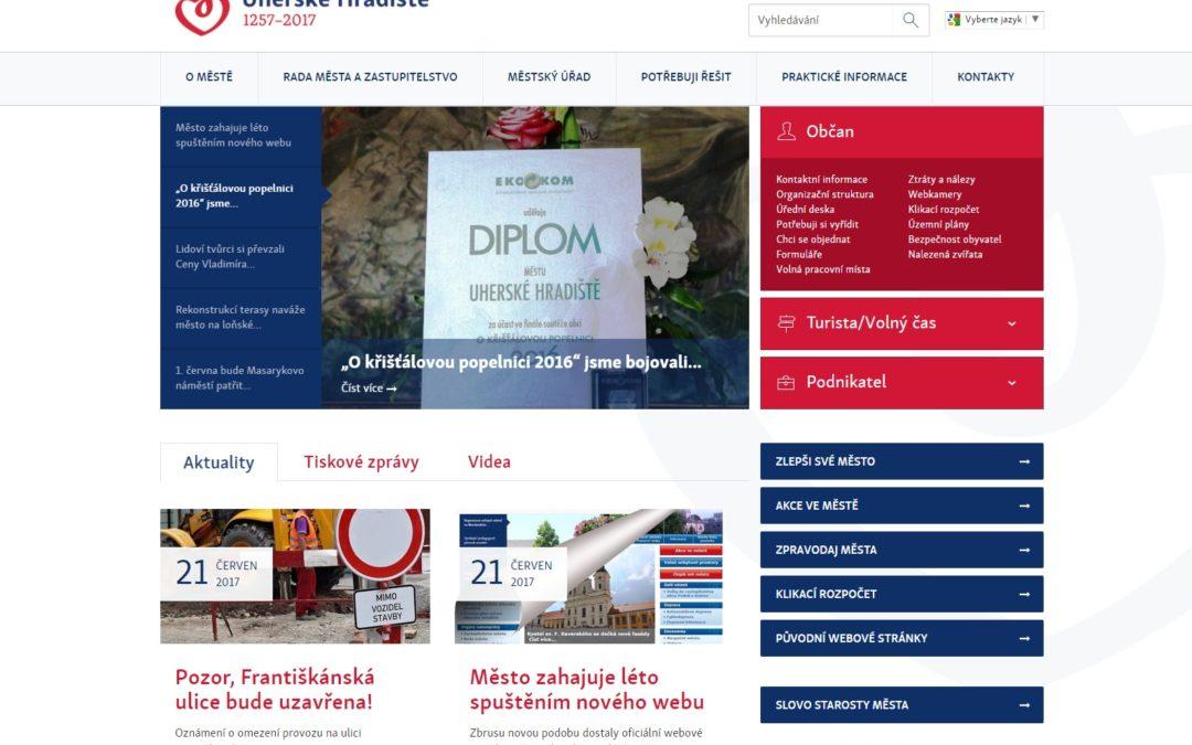 Město Uherské Hradiště zahajuje léto spuštěním nového webu