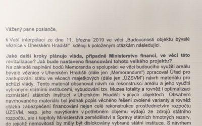 PRÁCE: Ministryně Schillerová poslala odpověď kvěznici vUH. Finanční podpora vlády vůbec není jistá