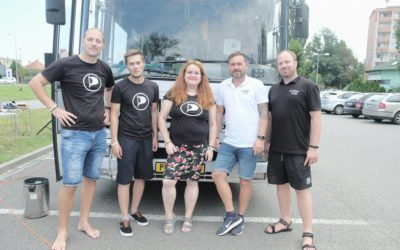 Pirátský BUStour budoucnosti projel Uherským Hradištěm. Dále vyrazil směr Napajedla a Zlín. Krajská kampaň zahájena!